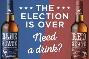 The election is over...need a drink? Try Red State or Blue State Bourbon Whiskey. | WineTransit.com