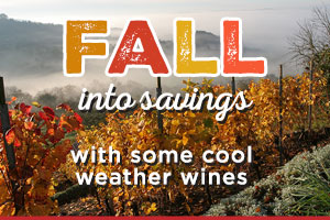 Fall into savings on cool weather wines | WineTransit.com