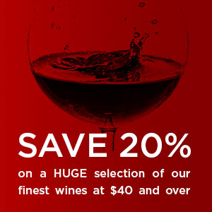 Save 20% on a selection of wines at $40 and over at WineTransit.com