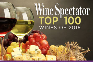 Shop wines from Wine Spectator's Top 100 Wines of 2016 list. | WineTransit.com