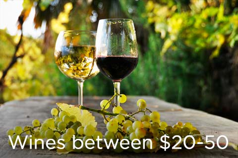 Shop Wines between $20 and $50 at WineMadeEasy.com
