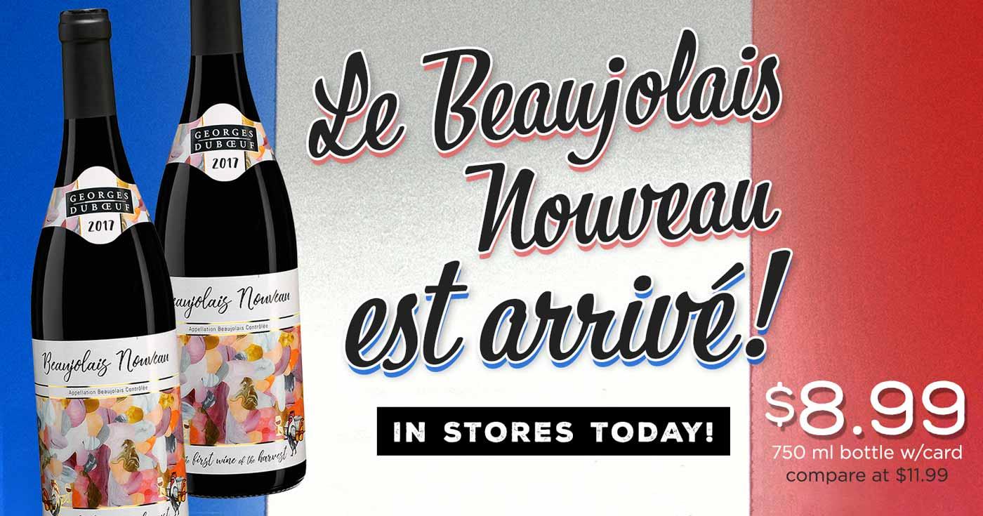 Beaujolais Nouveau est arrivé! It's Beaujolais Day!
