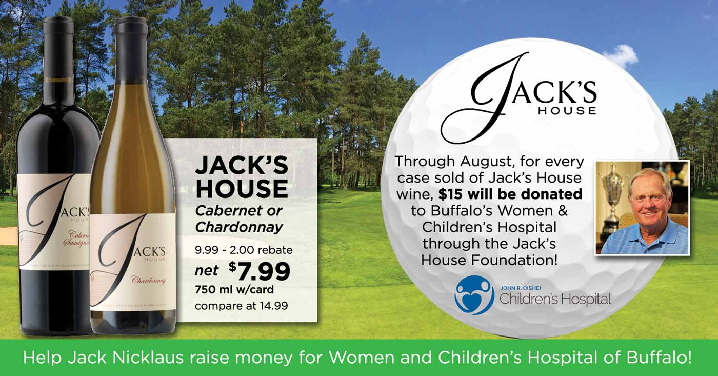 Support Women & Children's Hospital of Buffalo with Jack's House Wines
