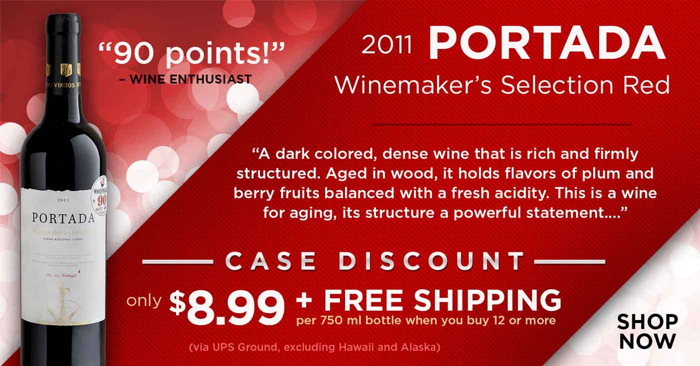Portada Red Case Discount: Only $8.99 per bottle with free shipping when you buy 12 or more bottles!