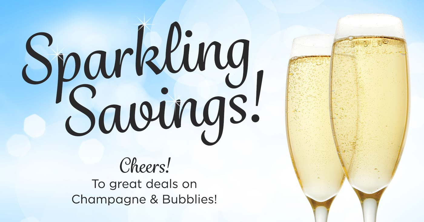 Sparkling Summer Savings - Save up to $10 on Sparkling Wines