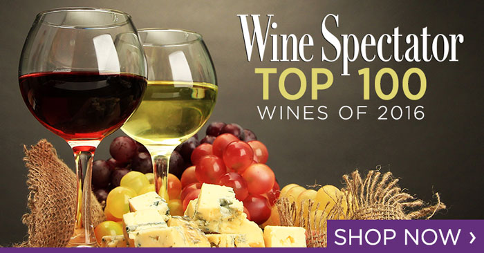 Ship wines from Wine Specatator's Top 100 Wines of 2016 list.