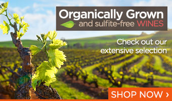 Organically grown and sulfite-free wines