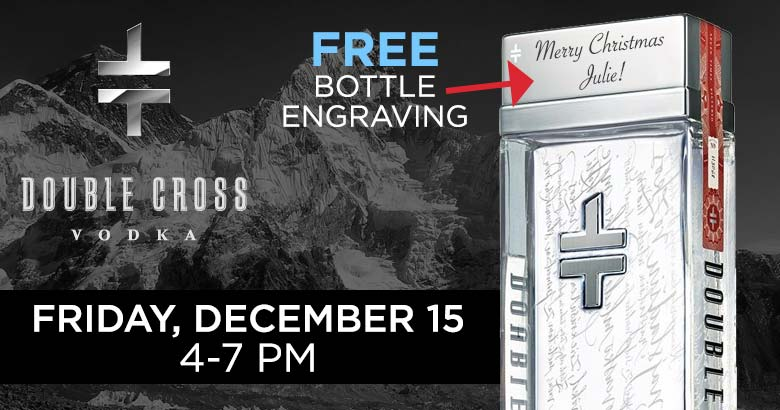 Double Cross Bottle Engraving - Fri, December 15th (4-7pm) at the store