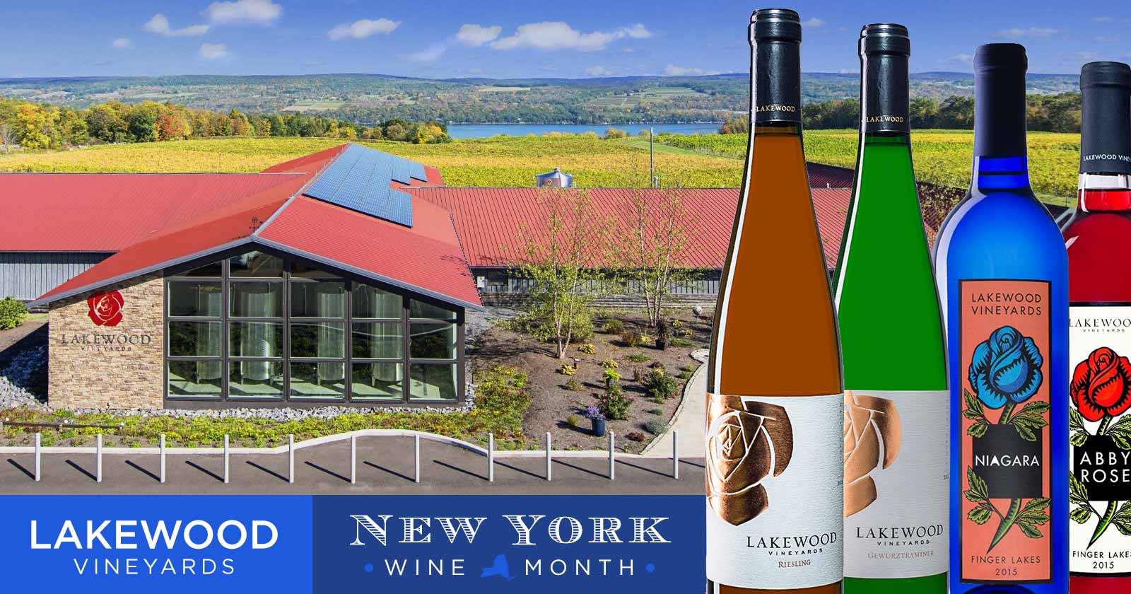 Celebrating Lakewood Vineyards as part of New York State Wine Month