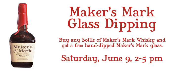 Maker's Mark Glass Dipping
