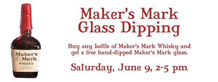 Maker's Mark Glass Dipping