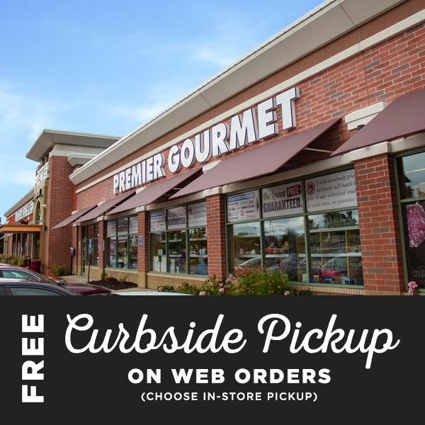 Free Curbside Pickup on Web Orders at Premier Gourmet