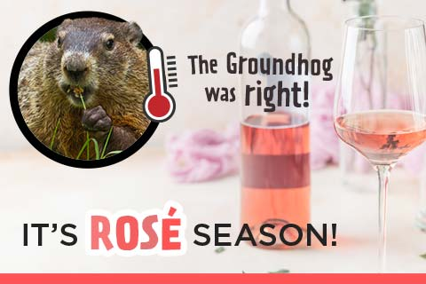 The Groundhog was Right...it's Rose season! | WineDeals.com