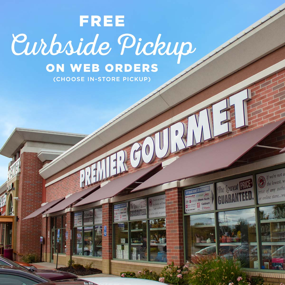 Now Offering Free Curbside Pickup on Web Orders