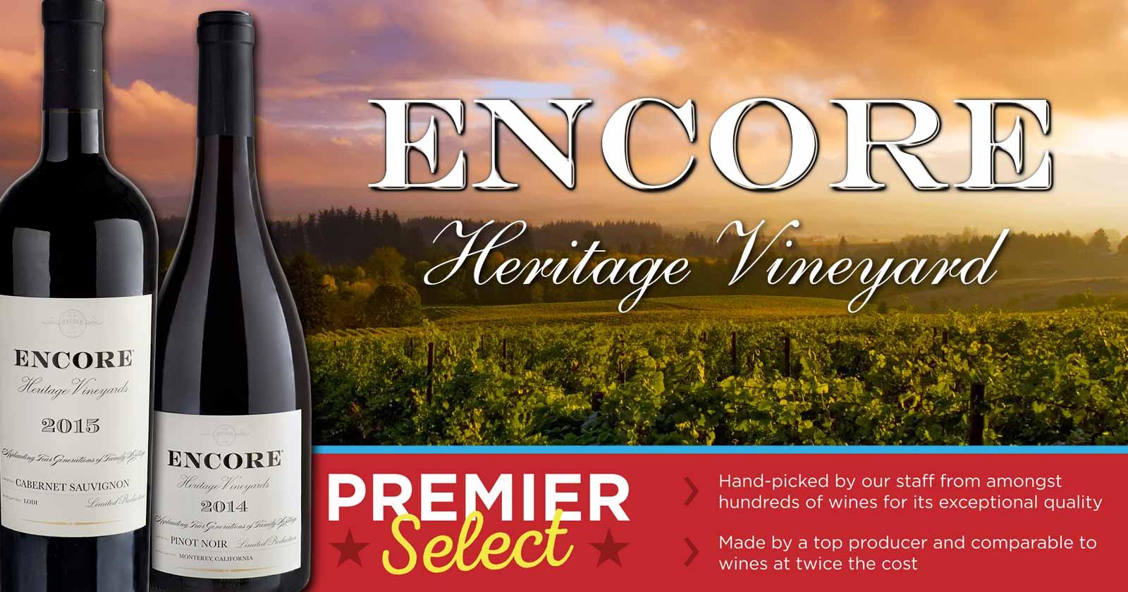 Premier Select: Encore Wines